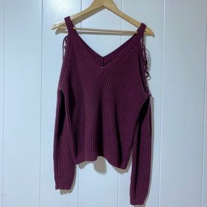 LA Hearts Knit Long Sleeve Sweater